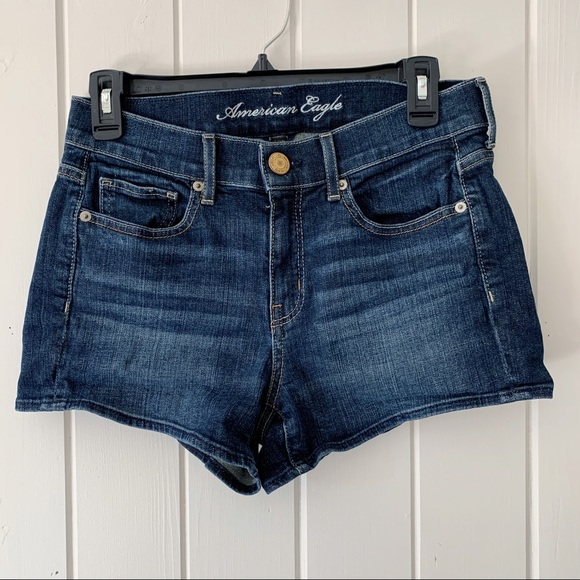 American Eagle Outfitters Pants - American Eagle High Rise Stretch Jean Shorts